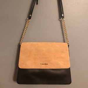Calvin Klein Colorblocked Flap Crossbody Bag